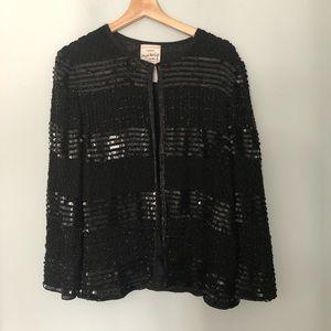 Vintage Joseph Ribkoff Beaded/Sequin Silk Jacket